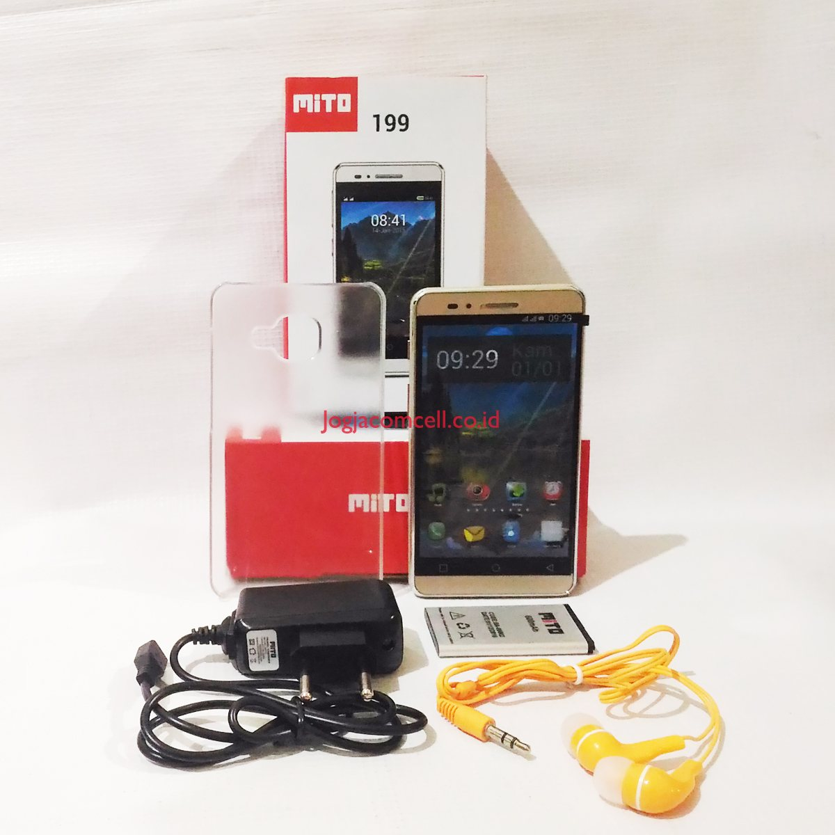Mito 199 Touchscreen Ponsel Dual Sim Card Gsm Kabel Data Smartphone