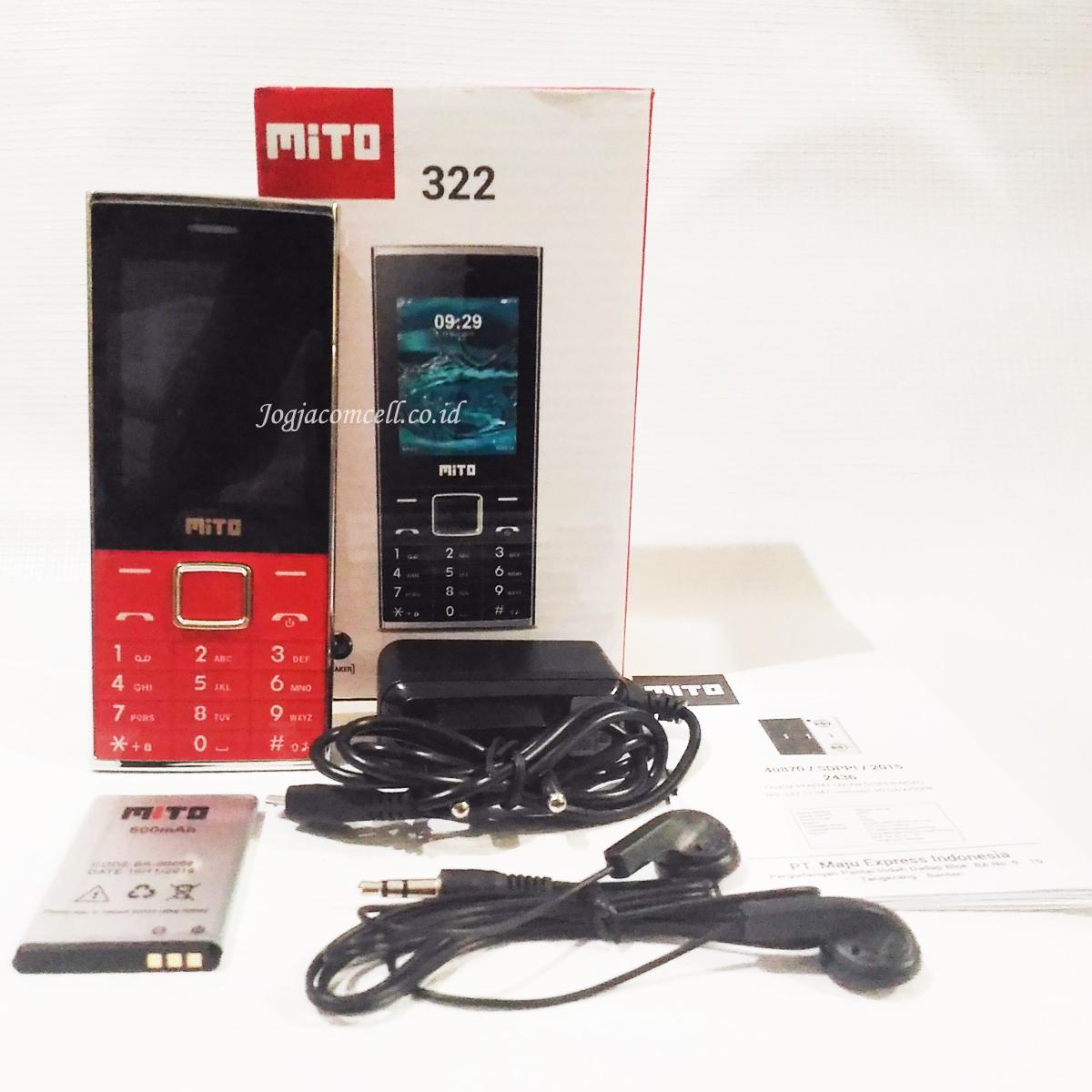 Mito 322 HP Dual SIM Dengan Speaker Besar Dan Kamera
